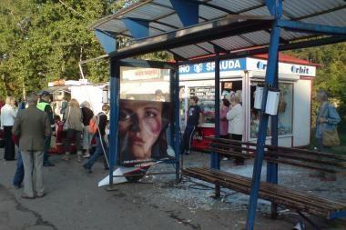 Kaune autobusas stotelėje sužalojo žmones (papildyta)
