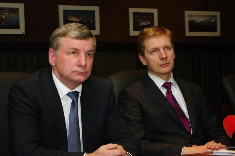 Ministras R. Sinkevičius domėjosi vėluojančiomis uosto statybomis