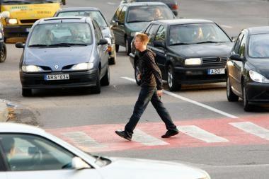Gatvėse nukentėjo vienas pėsčiasis