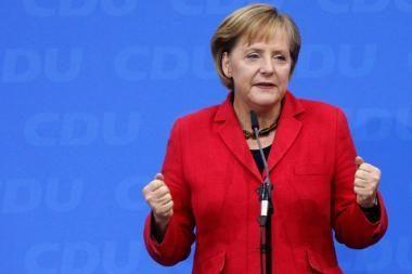 JAV gaudavo informacijos apie Vokietijos kanclerės Merkel koalicijos formavimą