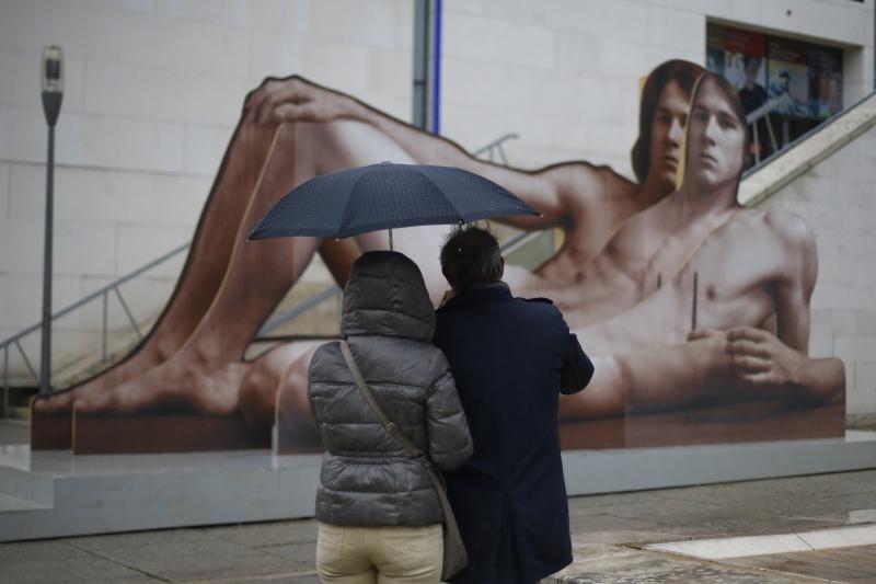 Plakatai su nuogais vyrais supykdė Vienos gyventojus (foto)