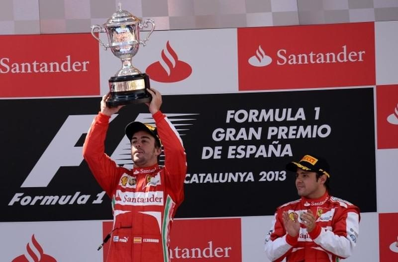 """""""Formulės 1"""" lenktynių etapą Ispanijoje  įtikinamai laimėjo F. Alonso"""