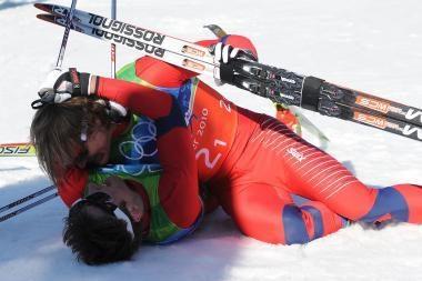 Komandinis sprintas baigėsi norvegų ir vokiečių pergalėmis
