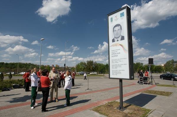 Vilniuje jau driekiasi Olimpiečių šlovės alėja