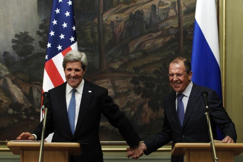 Rusija ir JAV sutarė spausti abi Sirijos konflikto šalis jį nutraukti