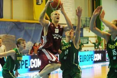 Jaunimo ekipa pralaimėjo Latvijos krepšininkams