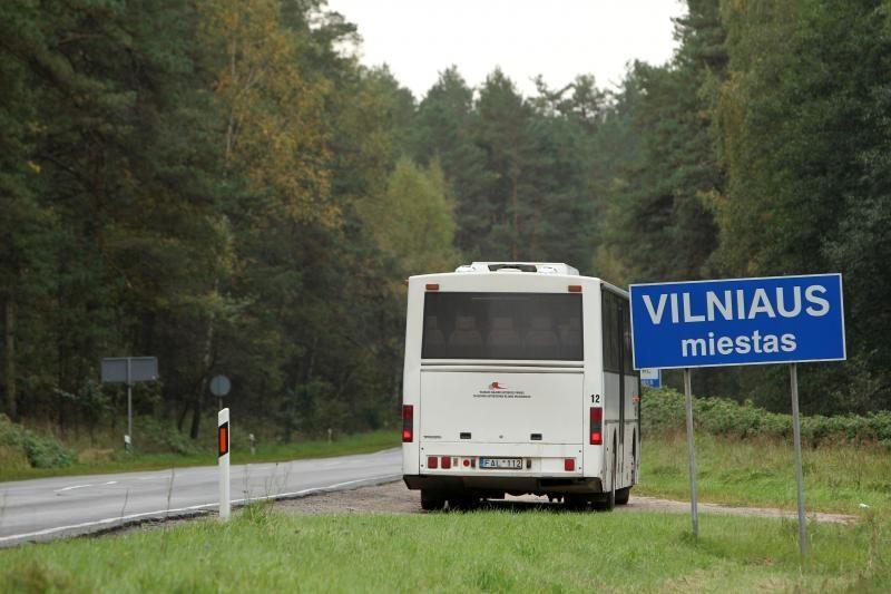 Vilniaus riboženkliai išrikiuoti miškuose