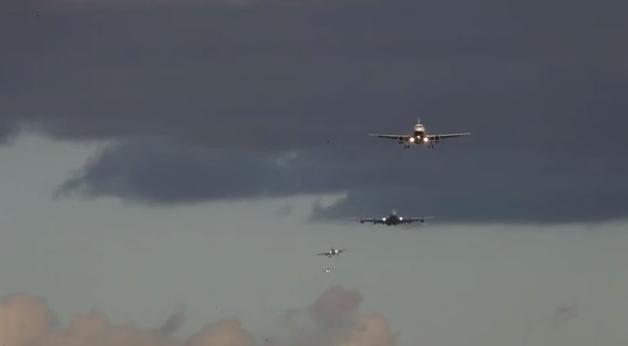 """Nuostabieji """"paukščiai"""": pagreitintas lėktuvų leidimasis tapo hitu"""