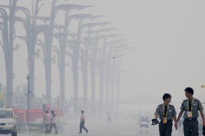 Pekino tebetvyro smogas