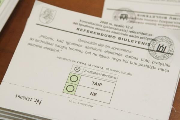 Referendumui šansų mažai