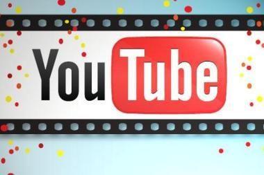 """Ant """"YouTube"""" torto – penkios žvakutės"""