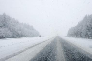 Sninga Klaipėdos, Kretingos, Skuodo ir Mažeikių rajonuose