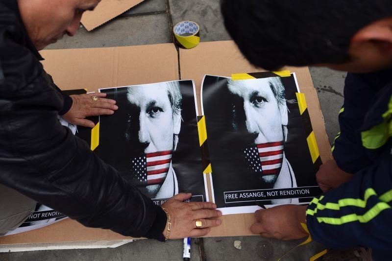 J.Assange'o prieglobsčiui Ekvadore paremti atsiųsta 10 tūkst. žinučių