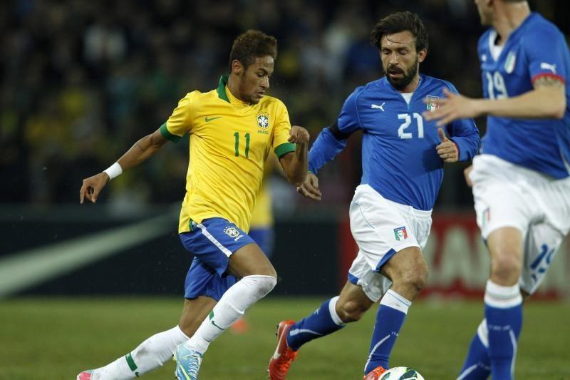 Brazilijos ir Italijos rinktinių susitikimas įvarčių nepašykštėjo
