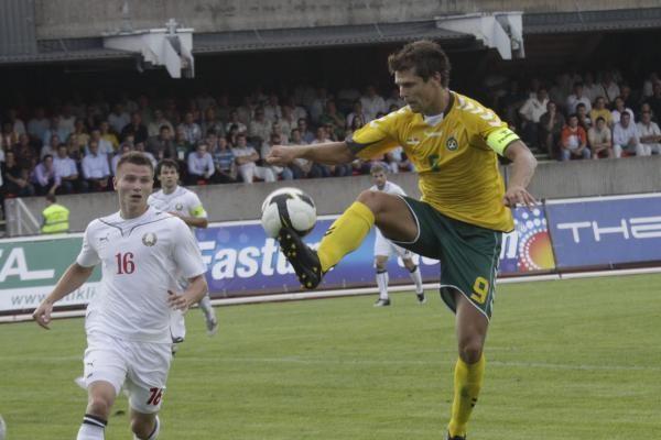 Lietuviams teko pripažinti Baltarusijos futbolininkų pranašumą