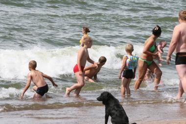 Penkiametė jau ne pirmą kartą prie jūros pramogavo viena