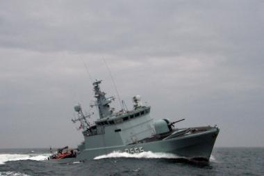Naujas Karinių jūrų pajėgų laivas grįžta į Klaipėdą