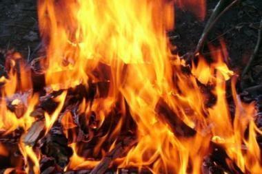 Sostinėje dega apleisti namai