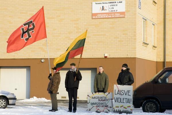 M.Murza Vilniuje protestavo prieš Gvantanamo kalinius