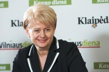 Pasitikėjimo lentelėje karaliauja D.Grybauskaitė