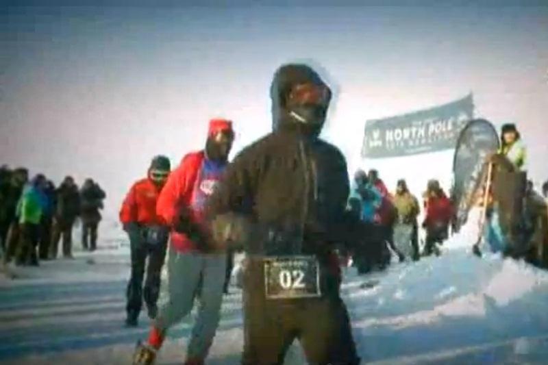 Šiaurės poliuje vyko šalčiausias maratonas pasaulyje