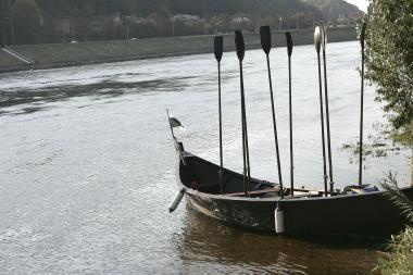 Nauja pramoga: iš Kauno Nemunu - vikingų valtimis