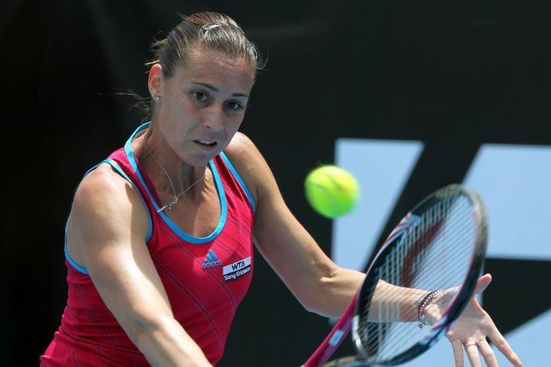 WTA serijos turnyre N.Zelandijoje susitiks F.Pennetta ir Zh.Jie