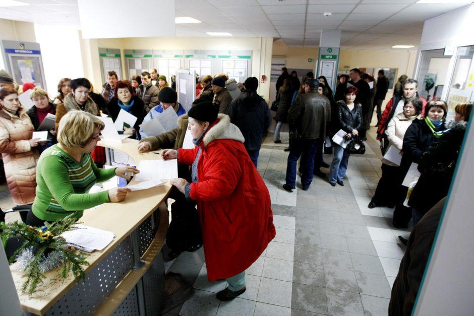 Nedarbas Klaipėdoje toliau auga