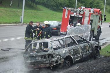 Kaune sudegė automobilis (nuotr.)