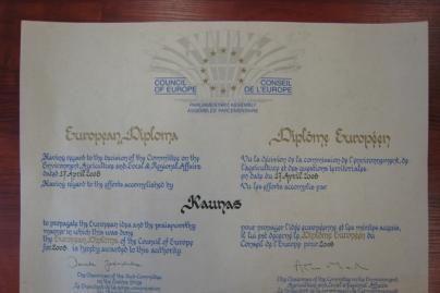 Kaunas apdovanotas Europos diplomu