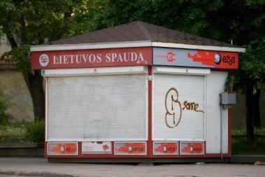 Spaudos kioskų Vilniuje šiemet mažiau
