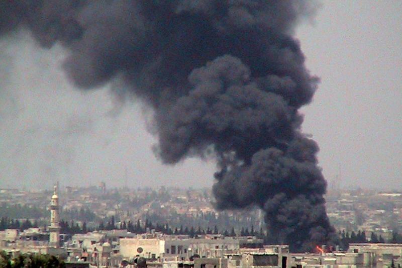 Sirijos armija Alepe bombarduoja sukilėlių kontroliuojamą rajoną