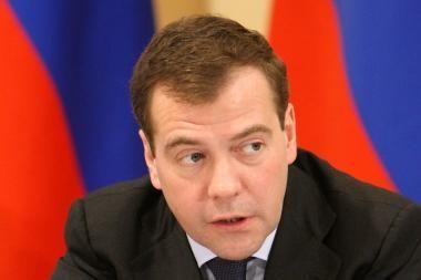 D.Medvedevas: mėsos, pieno ir cukraus Rusijoje netrūks