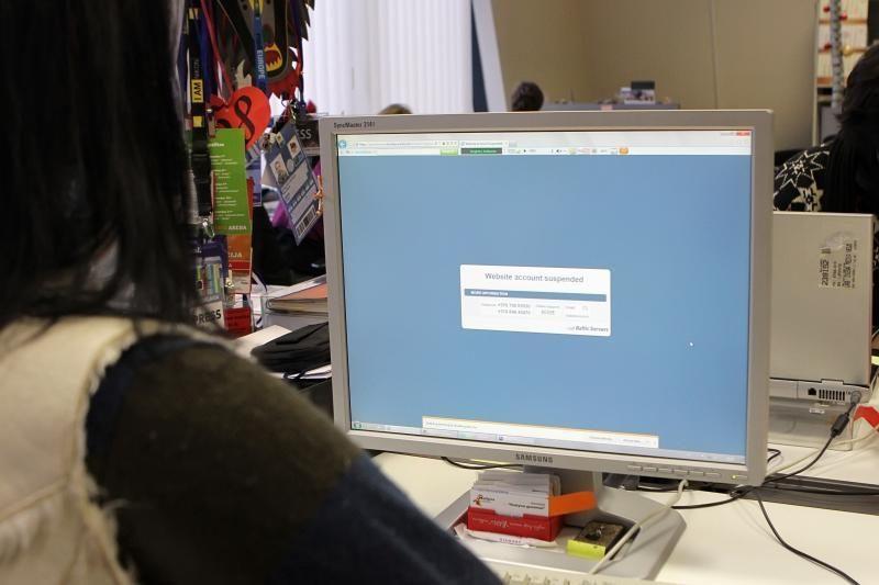 Dėl įsibrovėlių neveikia bibliotekos internetinė svetainė