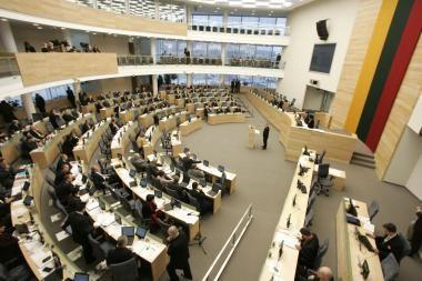 Seimas žada kitąmet sutaupyti 1 mln. litų