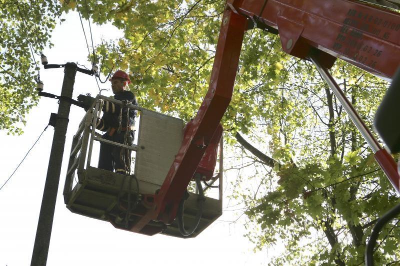 Elektros energijos sutrikimai operatyviai šalinami visoje Lietuvoje
