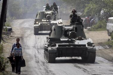 Gruzija pripažino nesitikėjusi Rusijos puolimo