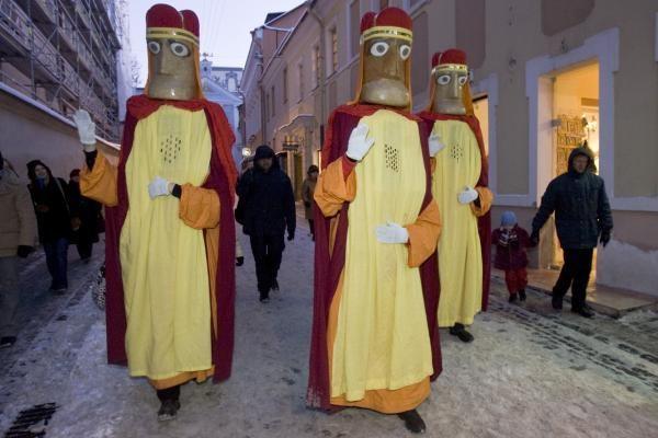 Vilniečiai pasitiko Tris Karalius ir išlydėjo eglutes