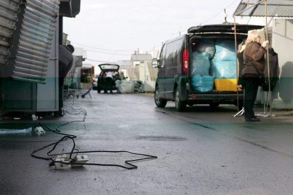 Gariūnų turgus: be elektros ir be darbo
