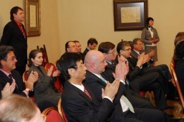 Vilniaus meras Vilius Navickas susitiko su ambasadoriais