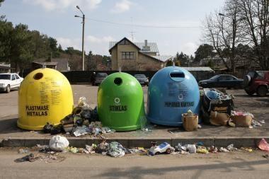 Kaune bus pastatyti 900 naujų antrinių žaliavų surinkimo konteinerių