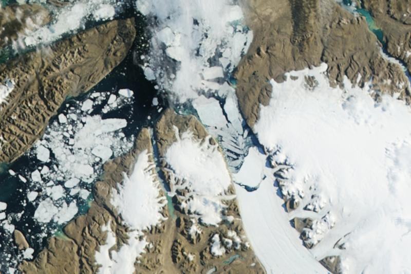 Nuo tirpstančio ledo senkančios jūros