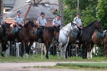Policijos žirgams trūksta tik raitelių