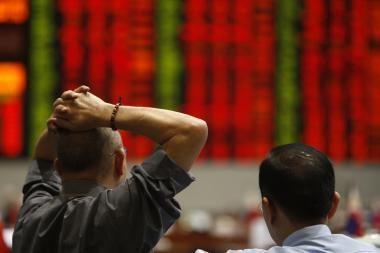 Akcijų rinkos kritimas - vienas didžiausių pasaulyje