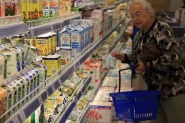 Kyla pieno produktų kainos