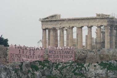 Protestuojantys graikai prašo palaikymo