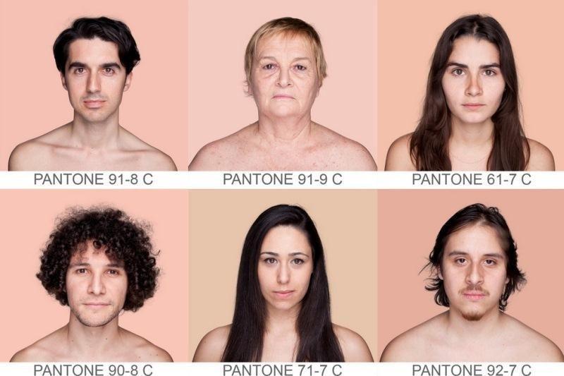 Žmonija – skirtingų spalvų gama (pagal sistemą PMS)