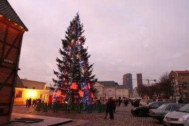 Kalėdinė eglutė sužibs jau šį mėnesį