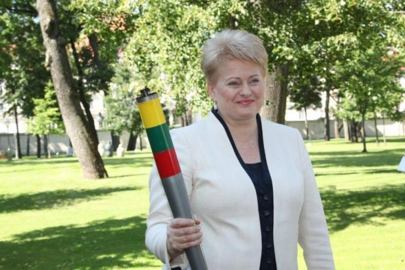 D.Grybauskaitė olimpiniame kaimelyje aplankė saviškius