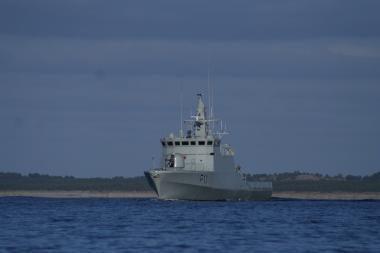 Karines jūrų pajėgas papildys naujas patrulinis laivas